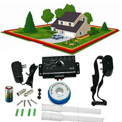 Safe Underground Electric Dog Fence System Waterproof Shock Collars with US-plug