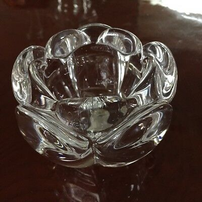 Royal Copenhagen Crystal Candle Holder Lotus  Perfect Condition