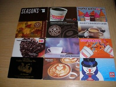 Coffee  12 different new collectible gift cards