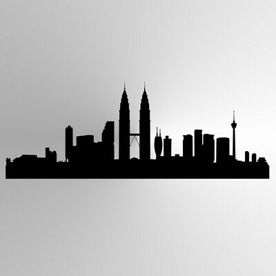 City Panorama BIG SIZES Reusable Stencil Wall Decor Kids Room Modern Style / P17