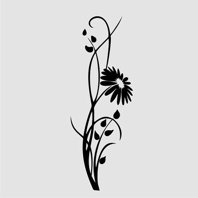 CH50 Floral Corner BIG SIZES Reusable Stencil Wall Decor Shabby Chic Cratf Art