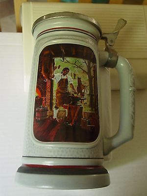 """Beer Mug: Avon 1986 Collector Stein -The Building of America """"The Blacksmith"""""""
