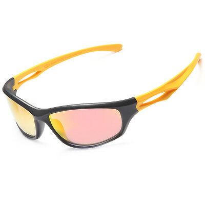 Siren TR90 Unbreakable Frame Polarized Sports Sunglasses w/ Case