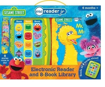 SESAME STREET ME READER JR ACTIVITY PAD and 8 BOOK LIBRARY