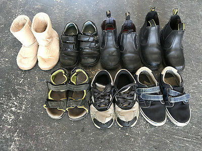 Boys Kids used Boots Shoes Runners (x7) pairs sizes 10-12. Nike. Clarke's. Bata.