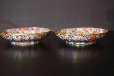IMPERIAL GOLD GILTED MULTI FLOWERS COLORS PLATE/chien Long mark 18th C,