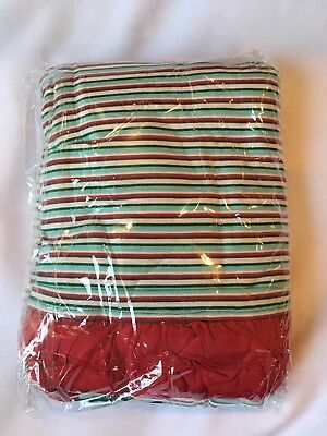 Kickee Pants Holiday Stripe Ruffle Toddler Blanket