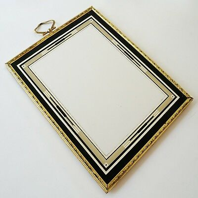1920s Art Deco Picture Frame with Reverse-painted Silvered Design on Glass