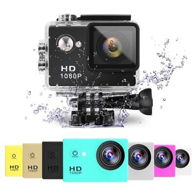 2.0 inch HD 1080P Sports Action Camera 30M Diving Waterproof DV DVR Camcorder