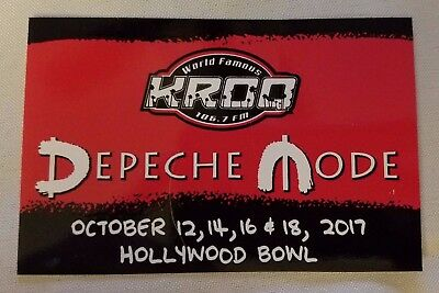 DEPECHE MODE Limited Edition KROQ Sticker Hollywood Bowl October 2017 SPIRIT