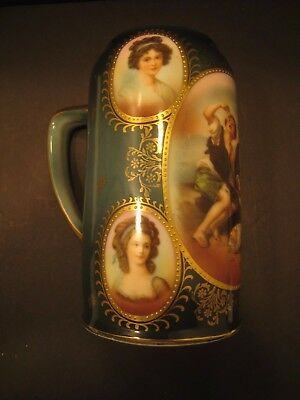 Wittelsbach Bavarian German Antique Portrait Beer Stein Rare Female Beauties