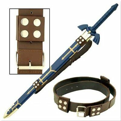 Steel and Leather Set Link Master Sword and Belt Combo Legend of Zelda Cosplay