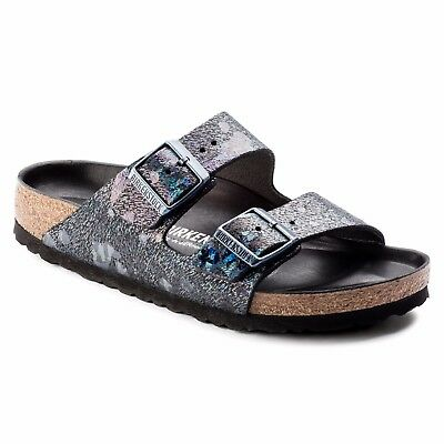 CLEARANCE Birkenstock Leather ARIZONA LUX Spotted Metallic Black BNIB 1006742
