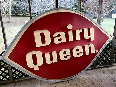 Vintage Dairy Queen Sign. Sign is 6ft tall, 10ft long, very cool piece.