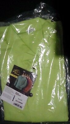 "Black Stallion FL9-30C 30"" 9oz. Lime FR Cotton Welding Jacket, 2 XL"
