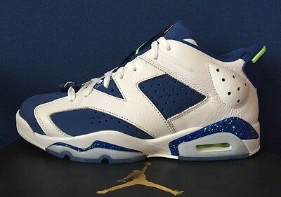 2480369669b8bd ... Nike Air Jordan 6 VI Retro Low Ds SZ 14 SEATTLE SEAHAWKS Blue Ghost  Green ...
