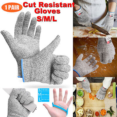 S/M/L Cut Proof Resistant Gloves Anti-cutting Safety Kitchen Butcher Food-Graded