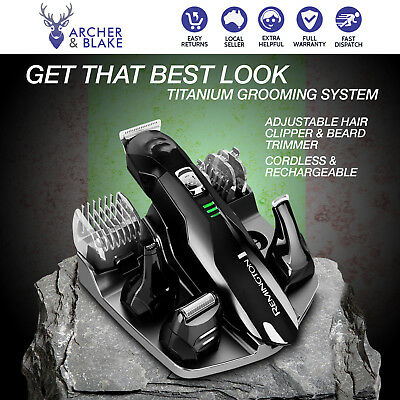 Remington Mens Shaver Hair Clipper Beard Face Body Groomer Cordless Rechargeable