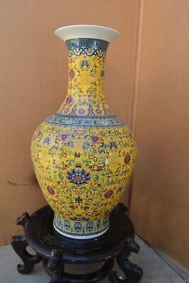 """Beautiful Antiques Chinese Qing Marking Vase 24"""" Tall"""