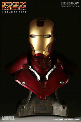 Iron Man Mk III (Mark 3) Life-Size Bust  - 1:1 Scale - Sideshow Collectibles