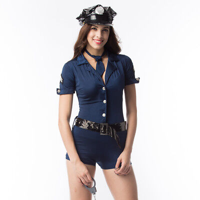 Ladies Police Woman Sexy Cop Uniform Costume Fancy Dress Role Party Outfit UK