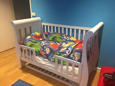 Sleigh baby cot 3 in 1 toddler bed sofa bed plus Mattress