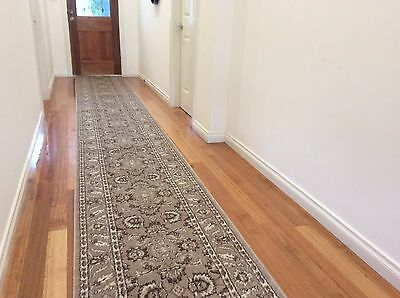 Hallway Runner Hall Runner Rug Traditional Beige 6 Metres Long FREE DELIVERY