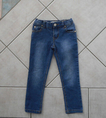 Adjustable Size 3 Boys Girls Unisex Blue Stressed Jeans Skinny Leg Stretch