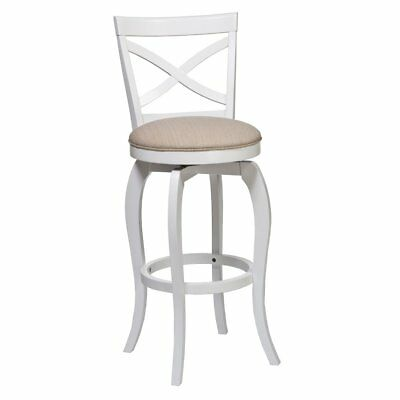 Ellendale Swivel Bar Stool, White