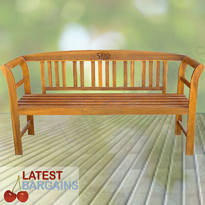 Wooden Garden Bench Timber Outdoor Patio Park Chair Seat Furniture