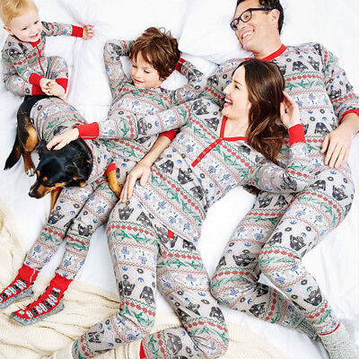 Family Matching Christmas XMAS Pajamas Set Pyjamas PJs Party Sleepwear Nightwear