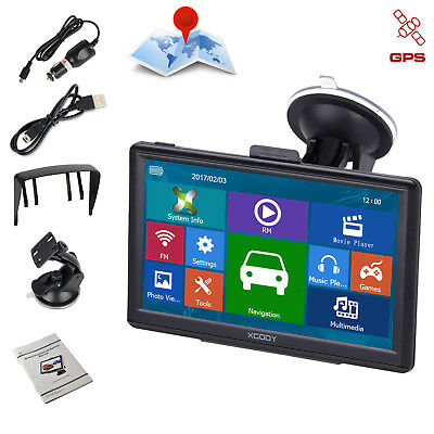 XGODY 7'' Car GPS Navigation SAT NAV Navigator 256M RAM 16GB ROM Built-in MP3 FM