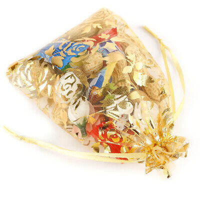 100x Fashion Bulk Organza Voile Jewelry Gift Favor Candy Bag Pouch Wedding Party