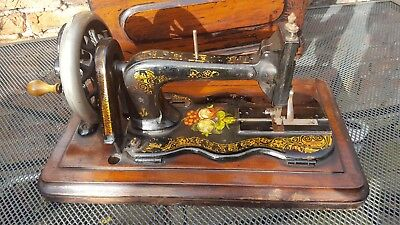 Antique Old Sewing Machine Fiddle Base~ Beautifully Decorated