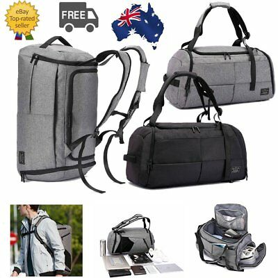 Anti-Theft Travel Duffel Backpack Unisex Sport Gym Bag w/ Shoe Compartment Large