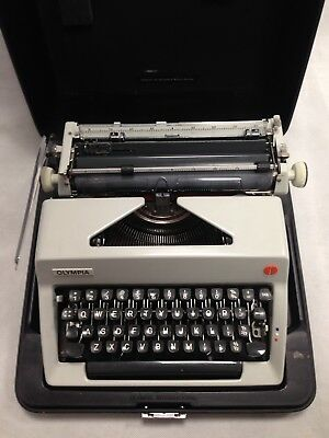Olympia Vintage Typewriter and Carry Case