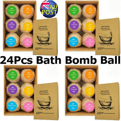 24~30Pcs Aromatherapy Bubble Bath Bombs with Coconut Oil GIFT Bath Fizzies MN