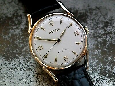 Just Beautiful 1959 Midsize Solid 9ct Gold Rolex Precision Ladies Vintage Watch