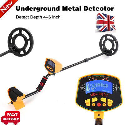 Metal Detector LCD Deep Searcher Gold Hunter Coins Finder Indoor Outdoor Use UK