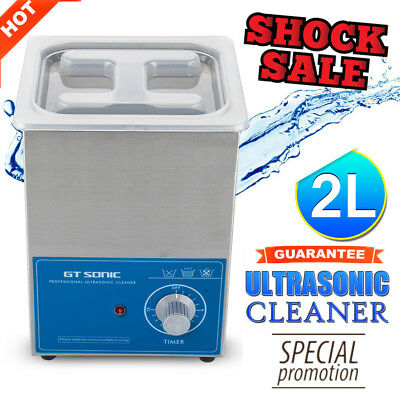 2L Ultrasonic Cleaner Ultra Sonic Heater Timer Stainless Jewellery Cleaning Tank