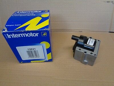 New Genuine Intermotor 12621 Ignition Coil Audi 80 Caddy Golf Passat Polo (2)