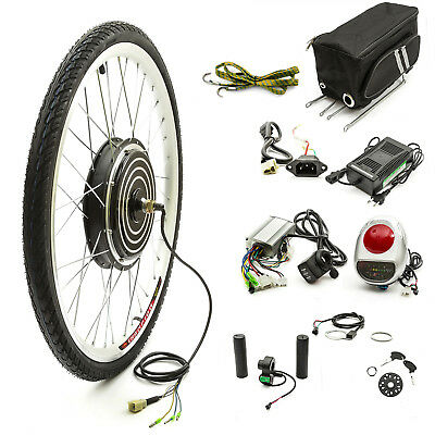Electric Bike Cycle Bicycle Conversion Kit 26 Inch Front Wheel 48 Volt 1000 Watt