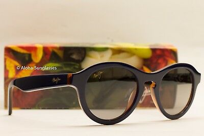 NEW MAUI JIM LEIA POLARIZED SUNGLASSES BLUE / ROOTBEER FRAME/GREY LENS women's