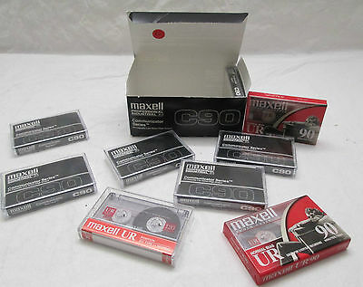 Maxell C90 Communicator Series Cassette Tapes 9 Pack New Sealed P/I Low Noise