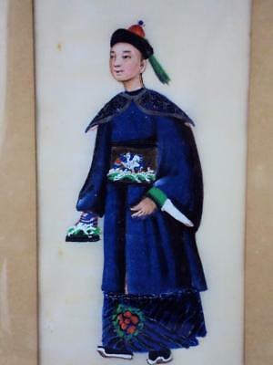 IMPRESSIVE  Chinese Oriental 1850s Antiques Rice Paper Pith Paintings