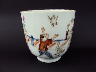 Top Rare!  Chinese 19thC Oriental Antiques Porcelain Famille Rose Cup