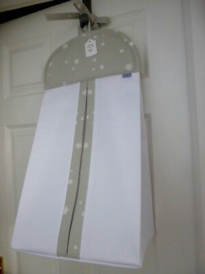 Baby Nursery Nappy Stacker-John Lewis Twinkle Twinkle Fabric-Grey Star-BRAND NEW