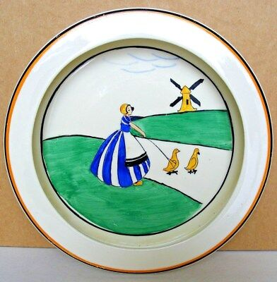 S HANCOCK & SONS - Corona Ware - Art Deco Hand Painted Child's Bowl - 1930s