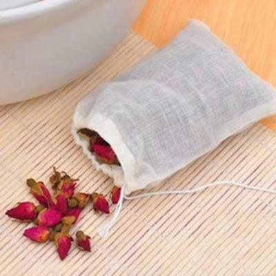 5x Reusable Filter Empty Teabags Herb Loose Tea Bag Drawstring Seal 25x30cm