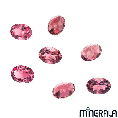 [Wholesale] Natural Pink Tourmaline Gemstone Faceted Oval Shape (Cblr)
